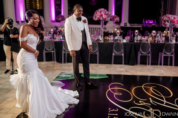 Black Custom Dance floor for Wedding - Hyatt Ziva MONTEGO BAY JAMAICA